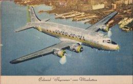 Colonial Airlines Skycruiser Over Manhattan Vliegtuig Avion Airplane Aircraft USA - 1939-1945: 2ème Guerre