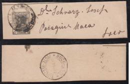 Rumänien Romania 1896 Stationery Wrapper BUCURESTI POSTE RESTANTE Postmark - 1881-1918: Charles I