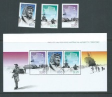 Australian Antarctic Territory 2012 Phillip Law Set 3 & Miniature Sheet MNH - Unused Stamps