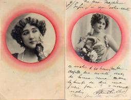 Femme Photo 764 Attribué La Belle Otéro Artiste 1900 X 2 - Vrouwen