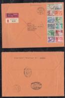Schweiz 1953 Registered EXPRESS Cover WEISSLINGEN To KIEL Germany Bahnpost KIEL – LÜBECK + BASEL FRANKFURT - Suisse