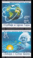 Yugoslavia 2005  100 Years Anniversar Theory Of Relativity Albert Einstein Scientist Physics, Set MNH - Albert Einstein