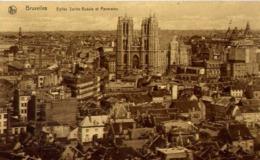 Bruxelles - Peglise Sainte Gudule Et Panorama - Formato Piccolo Non Viaggiata – E 13 - Belgio