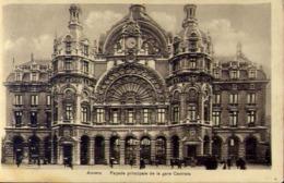 Anvers - Facate Principale De La Gare Centrale - Formato Piccolo Viaggiata Mancante Di Affrancatura – E 13 - Belgio