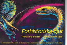 SWEDEN 1992 Prehistoric Animals/Förhistoriska Djur: Souvenir Pack UM/MNH - Svezia