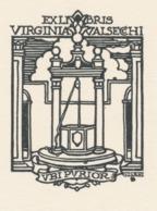 Ex Libris Virginia Valsecchi - Giulio Cisari - Ex Libris