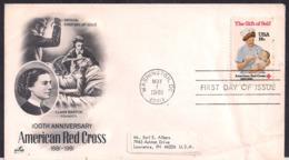 USA - 1981 - Lettre - 100e Anniversaire - Croix-Rouge Américaine - Croix-Rouge
