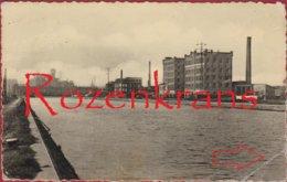 Schoten Deuzeld Merksem Albertkanaal (kreuk) ZELDZAAM Nijverheidsfabrieken - Schoten