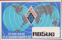 QSL Card Amateur Radio Station 1984 USSR CCCP SOVIET Moscow PROPAGANDA Illustrator Russia - Radio Amatoriale