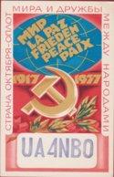 QSL Card Amateur Radio Station 1977 USSR CCCP SOVIET Moscow PROPAGANDA Illustrator Russia - Radio Amateur