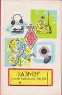 QSL Card Amateur Radio Station 1981 USSR CCCP SOVIET YAROSLAVL Moscow PROPAGANDA Illustrator Russia - Radio Amateur