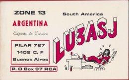 QSL Card Amateur Radio Station 1976 QSO Argentina Buenos Aires South America Edgardo Da Fonseca - Radio Amatoriale