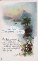 Old Postcard Happy Christmas UK Noel Kerstmis 1919 Litho Fantasy Card Carte Fantaisie Fantasiekaart Raphael Tuck Gem - Noël