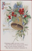 Old Postcard Christmas Bell Kerstklok UK Noel Kerstmis Fantasy Card Carte Fantaisie Fantasiekaart MB SERIES - Navidad