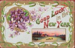 Old Postcard Christmas UK Noel Kerstmis Fantasy Card Carte Gaufree Fantaisie Fantasiekaart (fold) - Navidad