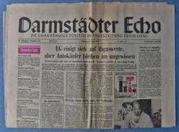 Darmstädter Echo Zeitung  -  Orig. Vom 29.6. 1985  -  Mit Politik , Sport , Interessanten Berichten - Zeitungen & Zeitschriften