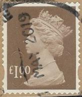 GB SG U2932 2016 Machin £1 M18L MAIL Good/fine Used [40/32743/ND] - 1952-.... (Elizabeth II)