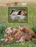 Sierra Leone 2019 Fauna Lions S201908 - Sierra Leone (1961-...)