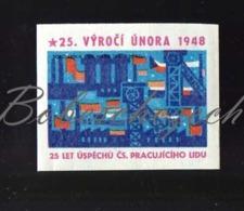 L2-45 CZECHOSLOVAKIA  1973 - 25 Years 1948 Czechoslovak Communist Coup D'état  Metallurgy And Mining Steel Headframe - Matchbox Labels