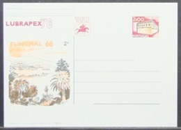 Portugal - Unused Stamped Stationery Card 1976 Lubrapex Funchal Cactus - Ganzsachen