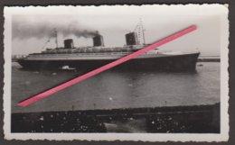 """LE HAVRE -- Photo Originale Paquebôt """"Normandie"""" Sortant Du Port _ Compagnie Générale Transatlantique _ CGT_French-Line - Boats"""