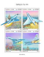 Sierra Leone 2019 Tupolev TU-144 .airplanes  S201908 - Sierra Leone (1961-...)