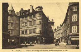 RODEZ  La Place Du Bourg Et La Maison De L' Annonciation Animée RV - Rodez