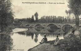 St POURCAIN Sur SIOULE  Pont Sur La Sioule Promeneurs  De La Sioule RV - Francia
