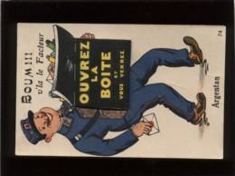 61 Argentan Carte Système Dépliant édit. Artaud N° 74 Boum !!! V'la Le Facteur Ouvrez La Boîte Et Vous Verrez.... - Argentan