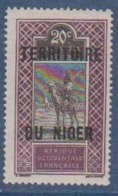 NIGER        N°  YVERT  :  7    NEUF AVEC  CHARNIERES      ( Ch 1/25  ) - Unused Stamps