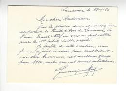 René Grandjean (1884 - 1963) SUISSE AVIATION AUTOGRAPHE ORIGINAL AUTOGRAPH Adressé à Edmond Audemars /FREE SHIPPING R - Autogramme & Autographen