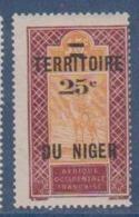 NIGER        N°  YVERT  :  18     NEUF AVEC  CHARNIERES      ( Ch 1/26  ) - Unused Stamps