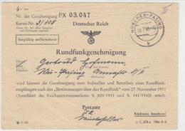 Rundfunkgenehmigung Aus MÜNCHEN-PASING 18.7.45 NICHT Entnazifiziert!! - Deutschland