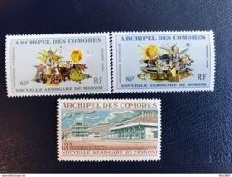 COMORES YT Aerien 3 V PA 39 40 41 Nouvel Aérogare De Moroni Neuf MNH **  COMOROS KOMOREN - Isla Comoro (1950-1975)