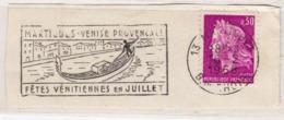 Flamme MARTIGUES Venise Provençale Fêtes Vénitiennes (Gondole) Sur Fragment _F98 - Postmark Collection (Covers)