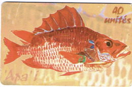 Polynesie Francaise Tahiti Telecarte Phonecard Prepaid PF140 Poisson Lagon Apa'i Fish Ut BE - Frans-Polynesië