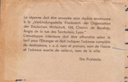 EP + Compl. Obl Angermünde 16.07.1942 Wohnlager DAF--> Vaguemestre Hopital Aix En Provence - Censure Avec Fiche RR - Guerre De 1939-45