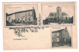 D 57 - Cpa -  LANDIGEN - LOTHR - épicerie - Kirche - Gemeindehaus  - 6329  CH - Francia
