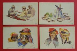 14 Cpa Cartes Postales Illustrées Par Roger Irriera Algérie Afrique Du Nord éditeur Baconnier Frères Alger - Altre Illustrazioni