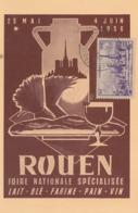Carte   FRANCE    Foire   De   ROUEN     1956 - Postmark Collection (Covers)