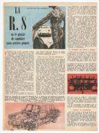 COUPURE De PRESSE 1962 - 2 PAGES - LA RENAULT 8 R8 R 8 OU LE PLAISIR De CONDUIRE SANS ARRIERE PENSÉE - Cars