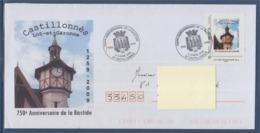 = 750ème Anniversaire De La Bastide Castillonnès Lot Et Garonne 4-5.4.2009 Enveloppe MonTimbraMoi Philaposte LP 50g - Bolli Commemorativi