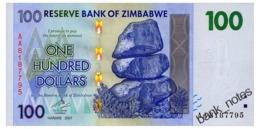ZIMBABWE 100 DOLLARS 2008 Pick 69 Unc - Zimbabwe