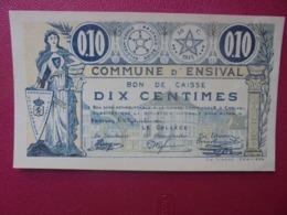 ENSIVAL 10 CENTIMES 1914 CIRCULER (B.8) - [ 3] German Occupation Of Belgium