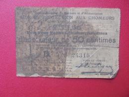 LIEGE 50 CENTIMES 1916 CIRCULER-REPARER (B.8) - [ 3] Occupazioni Tedesche Del Belgio