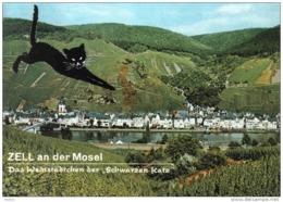 Carte Postale Allemagne Zell An Der Mosel Das Weinstädtchen Der  Schwaesen Katz    Chat - Zell
