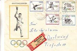 Allemagne - République Démocratique - Jeux Olympiques - Lettre Recom De 1964 - Cyclisme-judo-volley Ball-plongeon - Summer 1964: Tokyo