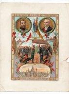Grande CHROMO Au Bon Marché Goossens 1902 France Russie Tsar Nicolas II Président Loubet Kremlin Moscou Navires Guerre - Au Bon Marché