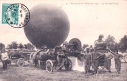 51 - Camp De CHALONS - MOURMELON - Manoeuvre Du Ballon De Siege - La Voiture Treuil - Aviation - Dirigeable - Camp De Châlons - Mourmelon