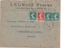 FRANCE 1910 LETTRE DE ARBOIS - Postmark Collection (Covers)